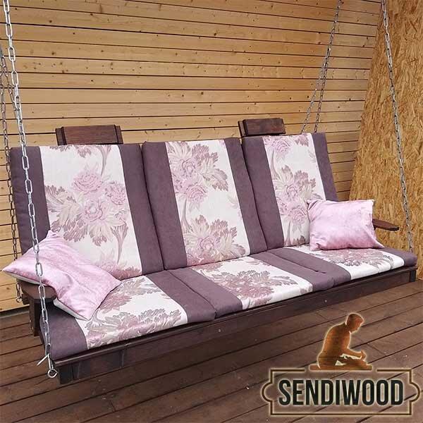 арт.2152  Матрас и подушки для садовых качелей