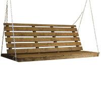Деревянная лавка для садовых качелей Орех