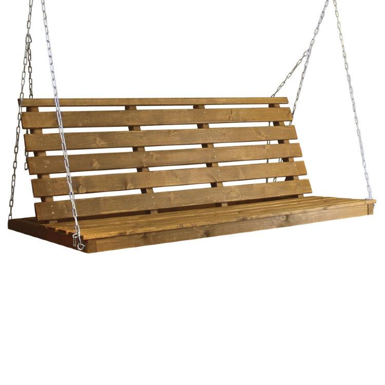 Деревянная лавка для садовых качелей Клен