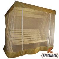 Тент с антимоскитной сеткой для садовых качелей Сенди Л 150х200 см.