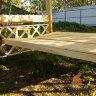 3-х местные деревянные садовые качели - пергола Сенди П цвет белый