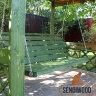 3-х местные деревянные садовые качели - пергола Сенди П цвет тайга