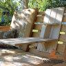 Полка - столик навесной на спинку качелей двухярусный