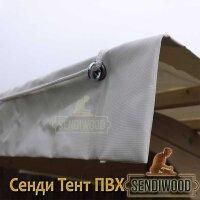 Тент ПВХ для садовых качелей Сенди АXXL с гнутой крышей