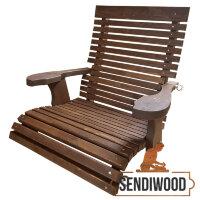 Деревянное подвесное эргономическое кресло Терра для садовых качелей